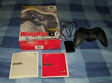 LOGITECH WINGMAN RUMBLEPAD CORDLESS CONTROLLER & USB SENSOR, BLACK