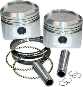 """Piston Set Harley 3-1/2"""" X 4-1/4"""" For Super Stock Heads 1984-1999 S&S 92-2026 X9"""