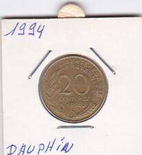 R) pieces de 20 cent francais 1994 dauphin