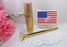 Gift Set - Gold Crystal Diamond Head Pen with Gold Atomizer