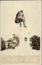 Orillia Ontario Champlain Monument c1910 Real Photo Postcard