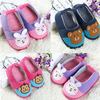 Toddler Infant Kids Baby Warm Shoes Boys Girls Indoor Cartoon Soft-Sole Slippers