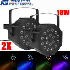 2Pc 18Led 18W Rgb Stage Light Per Auto Dmx Sound for Club Party Showing + Remote