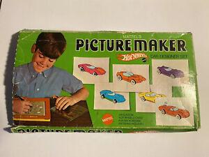 Vintage 1969 Mattel Toys Hot Wheels Picture Maker Car Design Set