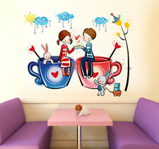 6900031 Wall Stickers Love Word for Valentines Day Romantic with Beads Garland