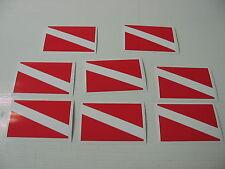 8 SCUBA DIVE FLAG Sticker Decal LOT 4 boat car Window Truck Tank Gear