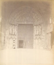 ARCHITECTURAL CATHEDRAL DOORS WITH SAINTS. ALBUMEN BY ALBERT LEVY, N.Y.