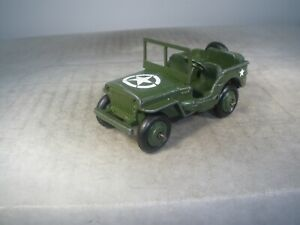 Dinky Toys Military Army #153a JEEP ORIGINAL PAINT & REPLACEMENT STARS