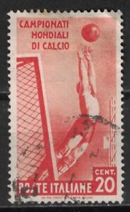 ITALY:1934 SC#324 Used 2nd World Soccer Championship T380