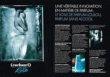 PUBLICITE ADVERTISING 064  1990  CACHAREL  parfum LOULOU  ( 2 pages)
