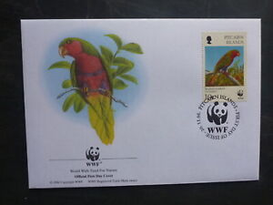 WWF 1996 PITCAIRN Is ENDANGERED LOCAL BIRDS 10c RATE FDC FIRST DAY COVER