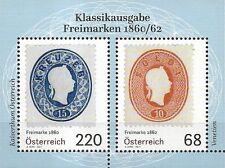 Autriche mi.n ° Bloc 94 (2017) NEUF/klassikausgabe-freimarken 1860/62