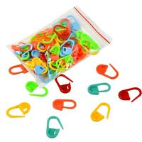 100Pcs Colorful Plastic Markers Holder Craft Crochet Locking Stitch Needle Clip