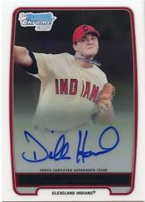 2012 Bowman Dillon Howard On Card Autograph Chrome Prospect Card BCP91 Indians