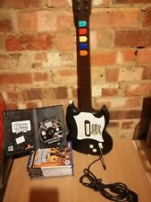 Guitar hero guitar & 6 games, 1x cheat disc for playstation 2 / ps2