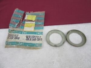 NOS 1968-1980 Chevy/GMC Front Axle Pressure Spring Plates 4/WD (2) GM612082  dp