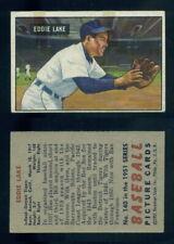 (66553) 1951 Bowman 140 Eddie Lake Tigers-EX With TAPE