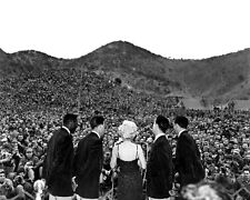 New 8x10 Korean War Photo: Marilyn Monroe Sings for the First Marine Division
