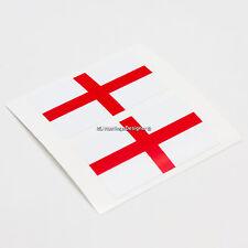 2x ENGLAND FLAG St George Cross Laminated Car,Window,Bumper Vinyl Decal Stickers