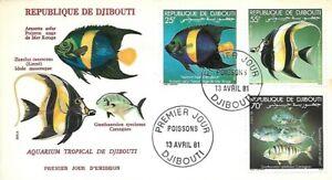 1981 DJIBOUTI FISH SET ON SUPERB FDC - GREAT PRICE
