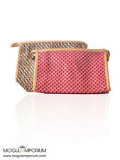 GOLD PU Leather Handy Cosmetic Pouch Clutch Makeup Bag Toiletry Travel Case