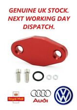 For  VW Audi MK4 Golf Jetta TT A4 B5 B6 CNC 1.8T SAI Delete Block Off Plate RED.