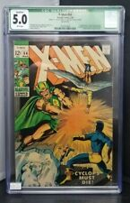 X-Men #54 Marvel 1969 1st app of Alex Summers CGC Graded 5.0 Qualified (Green)