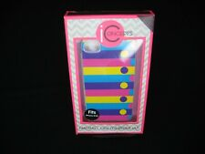 PHONE CASE FOR iPHONE 4/4S -STRIPES & DOTS-COLORS-PINK/YELLOW/PURPLE/BLUE