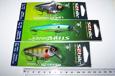 SEBILE Fishing lures lot of 3 mixed types, high quality lures, new. Bass, Cod.*