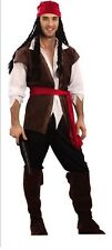 Mens Adult Carribbean Pirate Man Halloween Buccaneer Fancy Dress Costume Cosplay