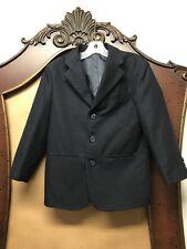 Claiborne Navy Blue Three Button Blazer Jacket Boys Size 8 Regular Reg EUC
