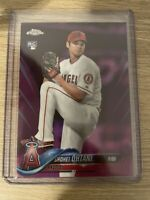 Mint 2018 Topps Chrome Shohei Ohtani PINK REFRACTOR RC Rookie Card #150 Angels