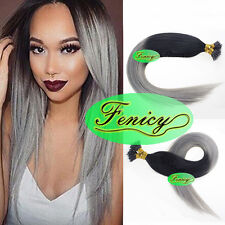 DOUBLE DRAWN Brazilian Remy Human Hair Extensions Nano Ring Beads Tip Hair 1gr/s