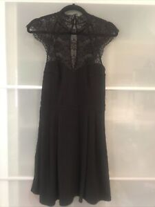 Forever New Lace Dress Black Size 12