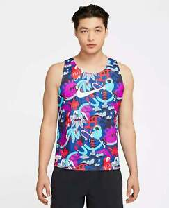 NWT Nike AeroSwift Tokyo Running Singlet Top CT2855-010 Multi Color Medium $90