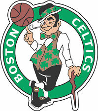 "Boston Celtics NBA Basketball sticker, wall decor, large vinyl decal, 11""x 9.5"""