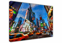 NEW YORK CITY TIMES SQUARE TAXI LARGE CANVAS WALL ART / ARCHITECTURE / PRINTS