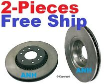 2-Pieces  Pair of Front Disc Brake Rotors 55079
