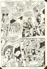 Hawkman Special #1 p.29 - Hawkman & Rock Aliens - 1986 art by Richard Howell Comic Art