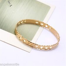 18K Yellow Gold Filled Filigree Bangle (BG-185)