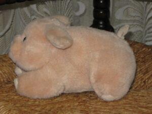 Vintage Dutch Soft Pig Plush Toy 19 CM