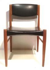 1x Stuhl Dining Chair Danish Design Leder Schwarz Denmark 60er 70er TEAK