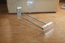 100 pcs Flip Scan Slotwall Hook 8'' X .148 Metal Pegboard Display Merchandise