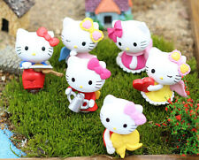 6pcs/set Cute Hello Kitty mini Figures Toy Gift