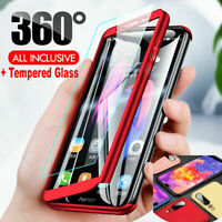For Huawei Mate 20 P30 Lite P10 P9 360° Full Hybrid Case Cover + Tempered Glass