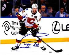 CURTIS GLENCROSS CALGARY FLAMES SIGNED AUTOGRAPH 8X10 PHOTO PICTURE HOCKEY NHL