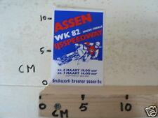 STICKER,DECAL ASSEN IJSSPEEDWAY HALVE FINALE WK 1982 HOLLAND, ICESPEEDWAY