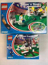 Lego Soccer Shoot N Save 3422 New Sealed 2002 & Lego Freekick Frenzy 3423 New!!