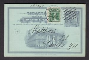 Chile 1c illustrated stationery card uprated + 1c 1909