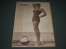 1952 SEPTEMBER 16 ECRAN MAGAZINE - MARILYN MONROE BACK COVER - SP 5796